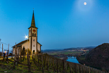 Bild mit Kirchen, Mond, Rhein, Schaffhausen