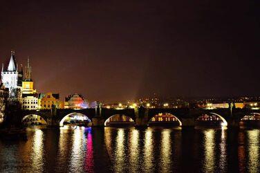 Bild mit Prag bei Nacht, Prag