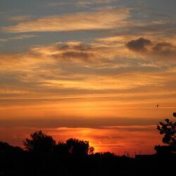 Bild mit Sonnenuntergang, Abendrot
