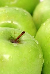Bild mit Früchte,Lebensmittel,Essen,Blumen,Frucht,grüner Apfel,grüne Äpfel,Apfel,Apfel,KITCHEN,Küche