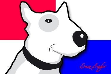 Bild mit Zeichnung,Illustration,Bullterrier