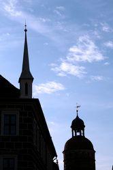 Bild mit Architektur,Bauwerke,Gebäude,Säulen und Türme,Glockentürme,Städte,Gotteshäuser,Kirchen,Kirchtürme,Stadt,Stadt Görlitz,Görlitz