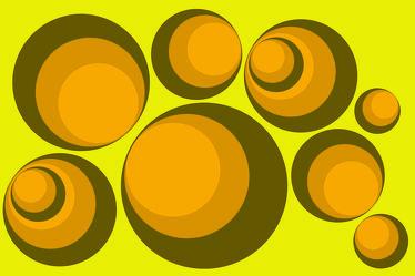Bild mit Farben, Gelb, Abstrakt, Abstrakte Kunst, Retro, Retro Art, Retro style