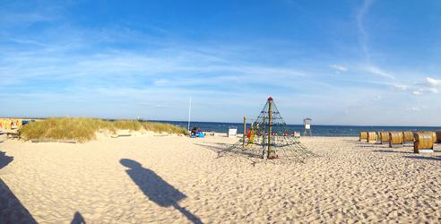 Strandblick als Panorama